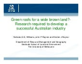 Green Roofs for A Wide Brown Land -...