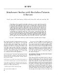 Attachment Studies With Borderline Patients
