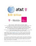 AT&T and T-Mobile USA merger press release of March 20, 2011