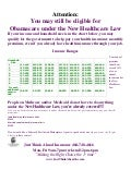 Attention new healthcare income laws