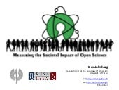 Measuring the societal impact of open science (1st presentation of a research project)