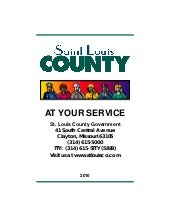 St. Louis County - At Your Service ...