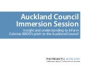Auckland Council Immersion Session