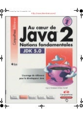 Au coeur de java 2   tome 1, notion...