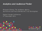 Audience agency presentation at Digital Change Conference 2Dec14