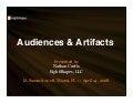 Audiences & Artifacts