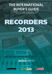 Audio media recorders guide 2013