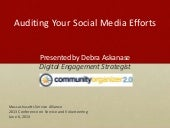 Evaluating Your Social Media Effort...