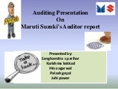 Audit presentation on maruti suzuki...