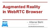 Augmented reality in web rtc browser
