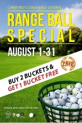 CRC Golf Range Ball Special