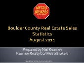 Boulder Real Estate Statistics Augu...
