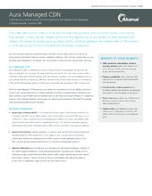 Aura Managed CDN Product Brief - Managed Operator CDN suite to deploy a highly scalable, turnkey CDN