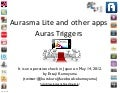 Aurasma lite and Other Apps - auras triggers - May 13 2012