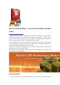 Aurora 3D Animation Maker, Create Eye Popping 3D Animations