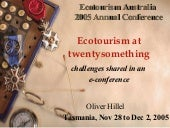 Ecotourism at twentysomething