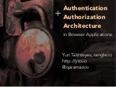 Authentication and Authorization Architecture in the MEAN Stack