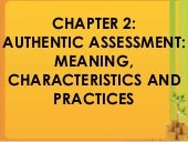 Chapter 2- Authentic assessment
