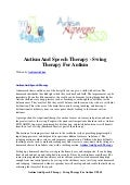 Autism and speech therapy   swing therapy for autism