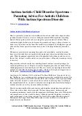 Autism autistic child disorder spectrum   parenting advice for autistic children with autism spectrum disorder