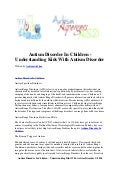 Autism disorder in children   understanding kids with autism disorder