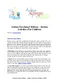 Autism teaching children   autism activities for children