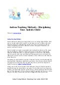 Autism teaching methods   disciplining your autistic child
