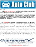 Auto Club Offers Guaranteed Credit Approval