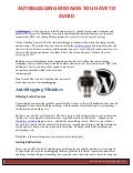 Autoblogging Tips - Autoblogging Mistakes You have to Avoid