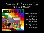 Movimientos Campesinos en Bolivia 2...