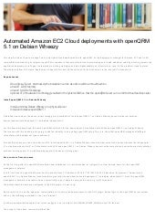 Automated Amazon EC2 Cloud deployments with openQRM