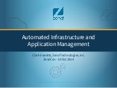 Automated Infrastructure and Application Management