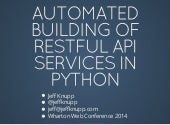 Building Automated REST APIs with Python