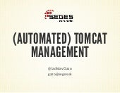 Automated Tomcat Management
