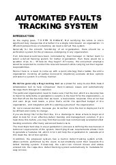 Automated Faults Tracking System