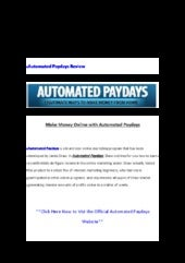 Automated paydays forum