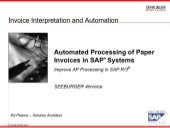Automated Processing Of Paper Invoi...
