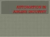 Automation in airline