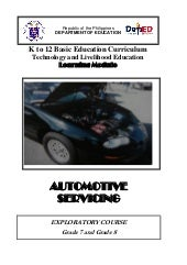 K to 12 Automotive Learning Module