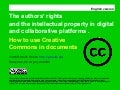 Autors rights and IP in digital and collaborative platforms