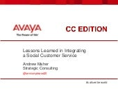 Social Customer Service Lessons Learned