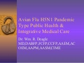 Avian Flu H5N1 Pandemic Type Public...