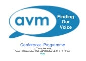 Finding Our Voice - AVM Conference ...
