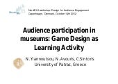 Audience participation in museums: ...
