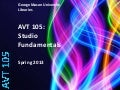 AVT 105: Studio Fundamentals
