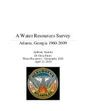 A Water Resources Survey: Atlanta, ...