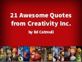 Awesome Quotes from Creativity Inc—Inspirational Quotes from Ed Catmull