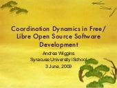 Coordination Dynamics in Free/Libre...