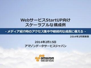 WebサービスStartUP向け AWSスケーラブルな構成例