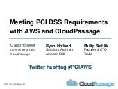 Meeting PCI DSS Requirements with AWS and CloudPassage